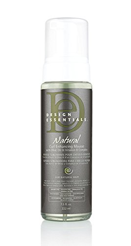 Fashion Styling Mousse - Design Essentials Natural Curl Enhancing Mousse, Quick Drying Must-Have for Perfectly Defined Luminous Curls-Almond & Avocado Collection, 7.5oz