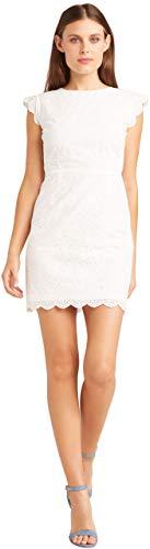 cupcakes and cashmere Women's Keren Eyelet Dress, White 8 ()