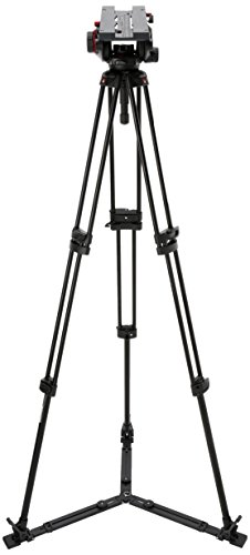 Manfrotto 509HD Video Head with 545GB Tripod Legs and Ground Level Spreader ()