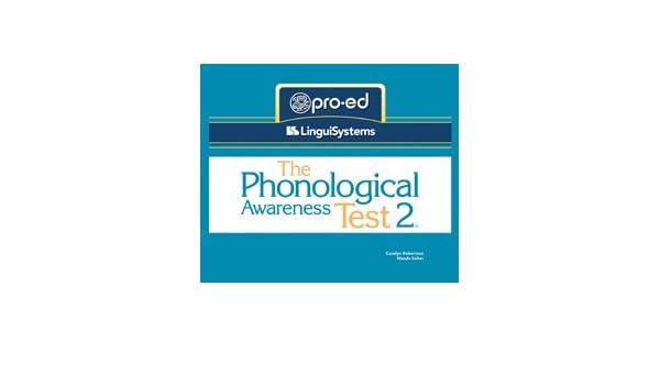 The Phonological Awareness Test 2 (PAT 2): Wanda Salter Carolyn ...