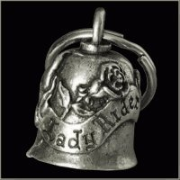 LADY RIDER Gremlin Bell Guardian Biker Harley Motorcycle Good Luck -