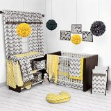 Best Bacati Baby Cribs - Bacati Ikat Yellow/grey Dots/giraffe 4 Crib Set Review
