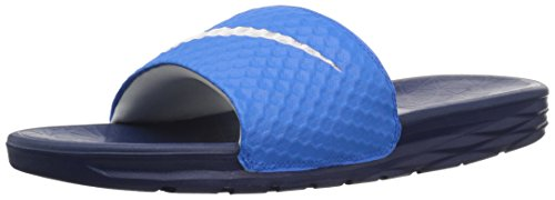 NIKE Men's Benassi Solarsoft Slide Sandal, Photo Blue/White/Binary Blue, 8 D(M) US -
