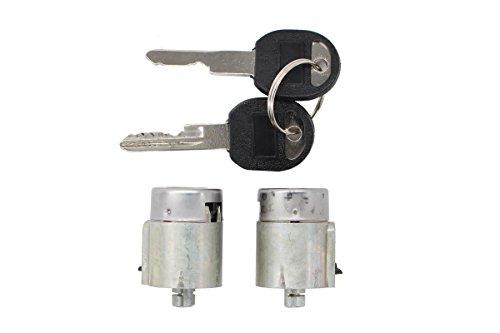 Pair of 2 New Door Lock Cylinder Keys Set For Chevy Chevrolet Truck Blazer C1500 C2500 Suburban C3500 K1500 K2500 Cheyenne WT (Chevrolet Lock Door C2500)