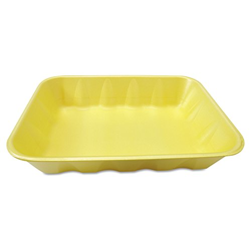 Genpak 20KYL Supermarket Food Tray, Foam, Yellow, 11 7/8w...