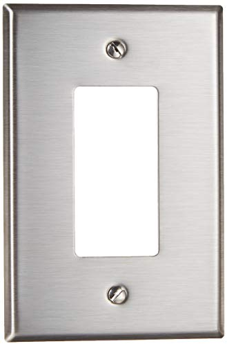 Leviton SO26 1-Gang Decora/GFCI Device Decora Wallplate, Device Mount, Stainless Steel