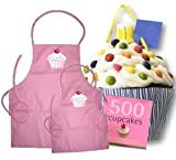 Mother Daughter Matching Cupcake Cooking Apron Gift Set