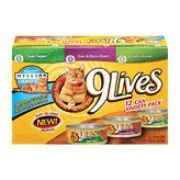 9 Lives Pate Favorites Variety Pack Canned Cat Food, My Pet Supplies