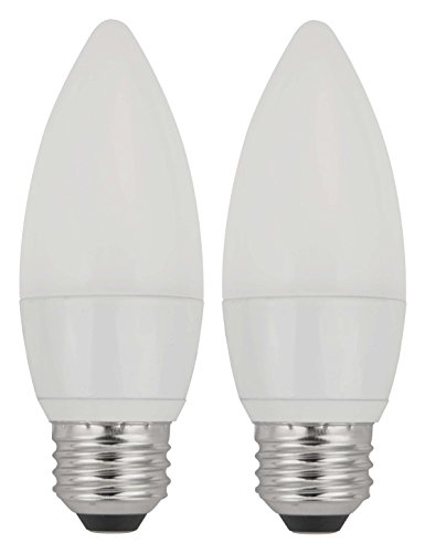 TCP 40W Equivalent, LED Frosted Torpedo Deco Light Bulbs, ENERGY STAR Certified, Dimmable, Soft White (2 Pack)