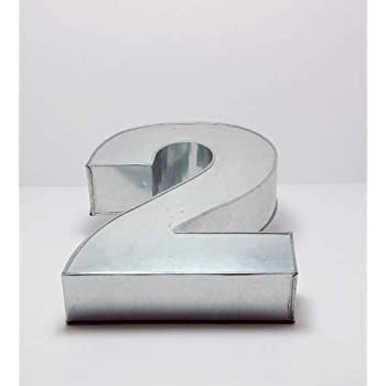 Small Number Two 2 Wedding Birthday Anniversary Cake Baking Pan Tin 10