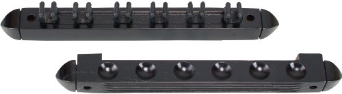 OUTLAW Standard 6 Pool Cue Stained Wood Wall Rack with Clips, Midnight