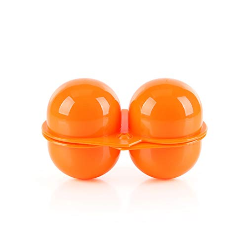 Asien 1 Pack 2 Cavities Folding Portable Plastic Egg Holder Storage Box Container Hiking Picnic Outdoor Camping Carrier for Egg Case (Orange) by Asien (Image #4)