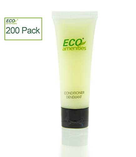 ECO AMENITIES Travel size 1.1oz hotel conditioner in bulk, Clear, Green Tea, 200 Count