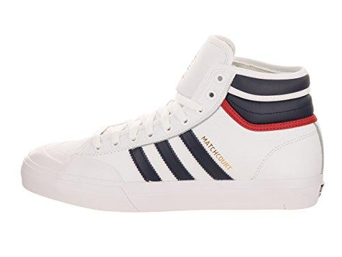 Adidas Originals Mens Matchcourt Le Calzature Di Qualità Rx Bianco / Collegiata Navy / Rosso Scarlatto