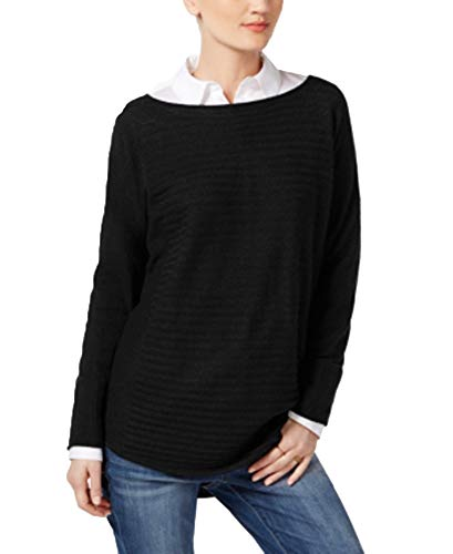 Charter Club Luxury Womens Cashmere High-Low Pullover Sweater Black XL ()