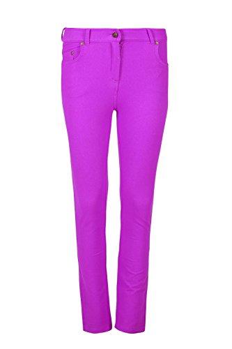 Skinny Jean Pocket Apple (Oops Outlet Womens Ladies Skinny Plain Zipped Pockets Studs Belt Leggings Denim Jeggings)