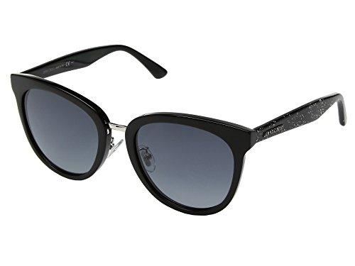 Jimmy Choo Women's Cade/F/S Black Glitter/Dark Grey Gradient One - Sunglasses Choo Blue Jimmy
