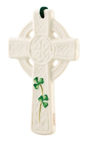 Belleek Celtic Cross (Belleek 3517 St. Kieran's Celtic Cross Ornament, 3.5-Inch, White)