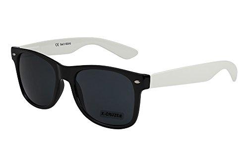 Gafas nerd gafas CRUZE® mujer hombre unisex 8 blanco de vintage negro sol X nerd retro 081 xwtYaSqS4R