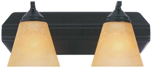Designers Fountain 6602-ORB Piazza 2 Light Bath Bar, Oil Rubbed Bronze