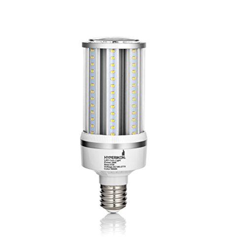 Hyperikon Corn LED Bulb, 36W (200W Equivalent), E39 (Large Mogul Base), 4300 Lumen, 3000K (Soft White Glow), Omnidirectional COB Street Light, 100-277v, CRI 85, UL-Listed and DLC Certified ()
