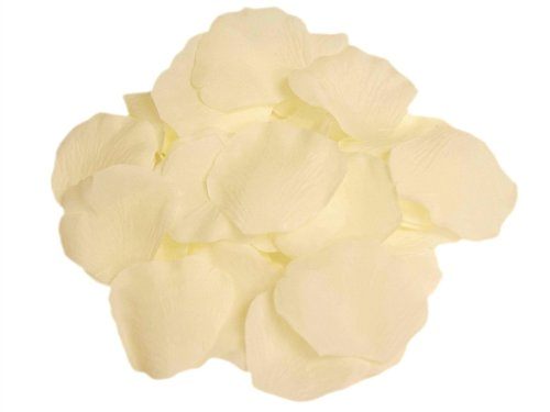 4000 Silk Roses (JASSINS 4000 Silk Rose Artificial Petals Supplies Wedding Decorations - Ivory)