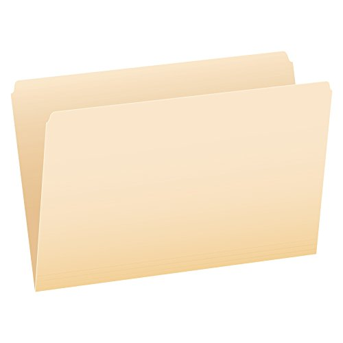 Pendaflex File Folders, Legal Size, Manila, Straight Cut, 100/BX (753EE)