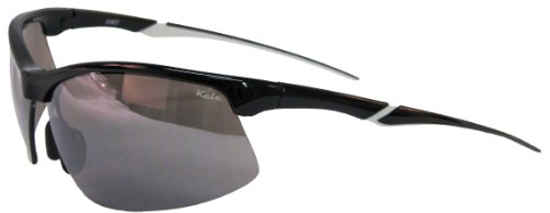 Kele by NYX Men's Wave Polarized Sunglasses, Black Gloss Frame/Grey - Sunglass Nyx