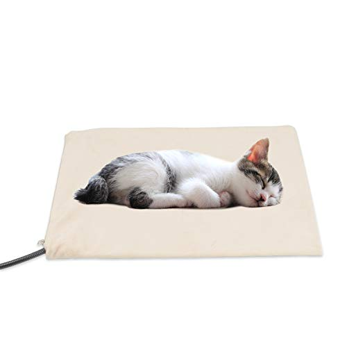 NICREW Pet Heating Pad for Cats and Dogs, Pet Bed Warmer with Steel-Wrapped Cord, Removable Soft Fleece Cover Included, 12