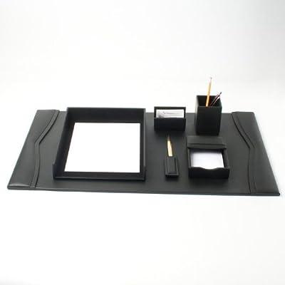 Office Accessories Plus Bonded Leather Desk Set