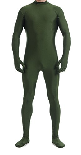 VSVO Unitard Skin-Tight Solid Color Dance Wear for Adults and Children (X-Large, Olive -
