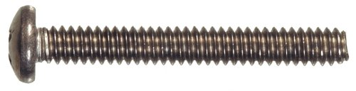 The Hillman Group 42298 Stainless Steel Pan Head Phillips Machine Screw, 1/4-20 x 1-1/4-Inch, 25-Pack by The Hillman Group