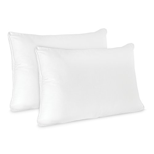 BioPEDIC Low Profile Hypoallergenic Flat Pillow (2 Pack),Standard/Queen