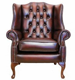 Incredible Designer Sofas4U Chesterfield Mallory Flat Wing Queen Anne High Back Wing Chair Uk Manufactured Antique Oxblood Creativecarmelina Interior Chair Design Creativecarmelinacom