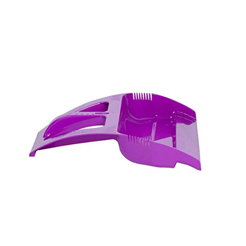 WISPpan Dustpan, Foot Operated Dust Pan with Side Combs (Purple)