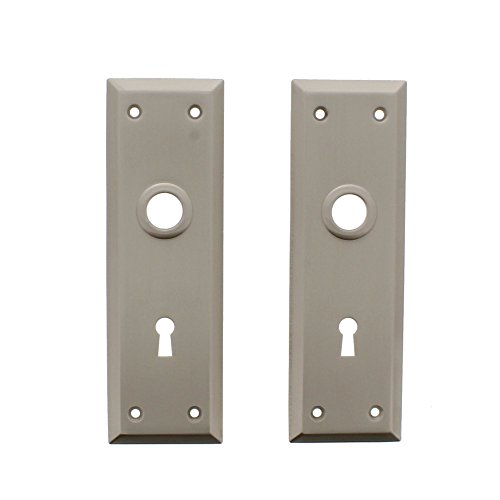 Ultra Hardware #57511 Satin Nickel Bit Key Trim Plates Escutcheon 7