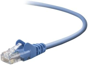 NEW 7FT CAT5E BLUE SNAGLESSRJ45M TO RJ45M PATCH CABLE Home /& Office