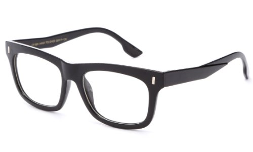 IG Unisex Vintage Squared Thick Frame Clear Lens Fashion Glasses in - Geek Glasses In