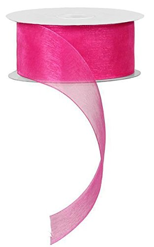 Sheer Organza Fuchsia Ribbon (1.5