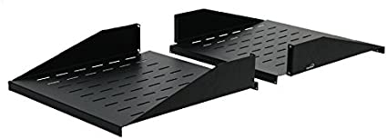 "2U 19/"" Cantilever Server Shelf Rack Mount Center Weighted For Network Relay Rack"