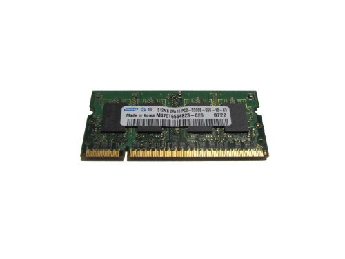 Cheap Memory Samsung M470T6554EZ3-CE6 1x512MB DDR2-667 PC2-5300 SODIMM Laptop RAM