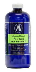 Iron Supplement with vitamin C by Angstrom Minerals 32 oz - Iron WITHOUT Constipation !!!!