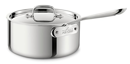 All-Clad 4203 Stainless Steel Tri-Ply Bonded Dishwasher Safe Sauce Pan with Lid / Cookware, 3-Quart, Silver - Edge Steam Table Pan