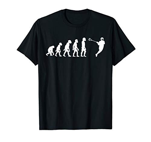 Funny Human Lacrosse Evolution Goalie Coach Lax Stick Player T-Shirt (Best Lacrosse Gloves For Midfielder)