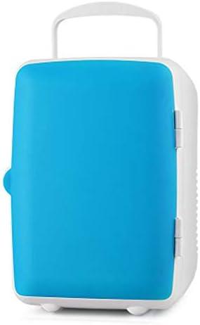 カー冷蔵庫 4Lミニ冷蔵庫車の電子ホット&コールドボックスカー冷蔵庫ホームシングルドア小型冷蔵庫 家庭車載両用 (Color : Blue, Size : 245x230x180mm)