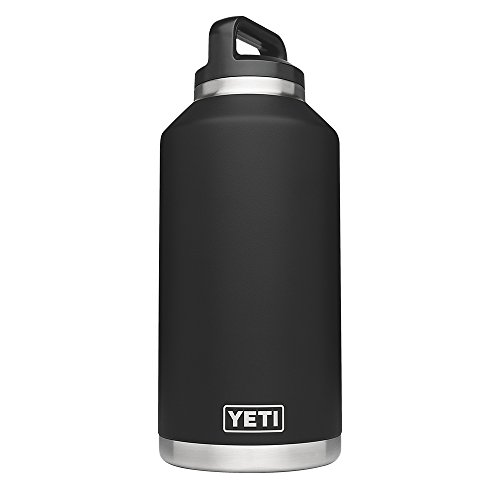YETI Rambler 64oz Vacuum Insulated Stainless Steel Bottle with Cap, Black DuraCoat
