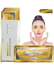 (20 Pairs) Under Eye Mask Collagen Eye Patches 24k Gold Eye Gel Pads - Hydro Cool Firming Technology Under Eye Bags Treatment for Puffy Eyes, Dark Circles, Eye Puffiness - Hydrogel Anti-Aging Gold Eye