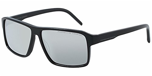 Porsche Design P 8634 A Black Sunglasses Grey Mirror Lens Size - Porsche Design Sunglasses Uk