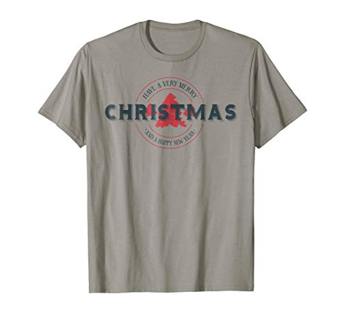 Merry Christmas Happy New Year Graphic Logo T-Shirt (Merry Christmas And Happy New Year Logo)