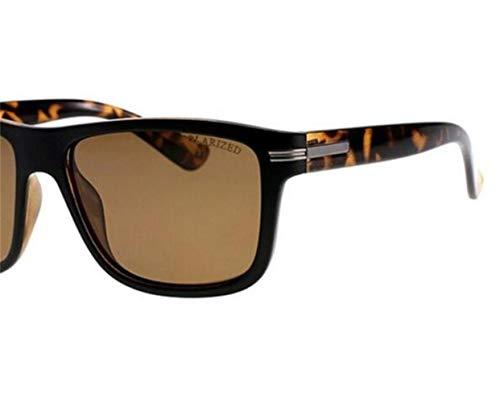 Protección de de Hombres Gafas de Conducir Gafas sol Cuadrado viajar Piernas Moda para Leopardo Claro Sol Huyizhi Brown Pesca Marco Patrón UV400 Marrón Polarizadas Mujeres Guay Light Gafas de OaqqwCx